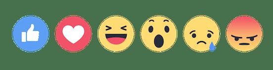 facebook reactions - sanzen digital